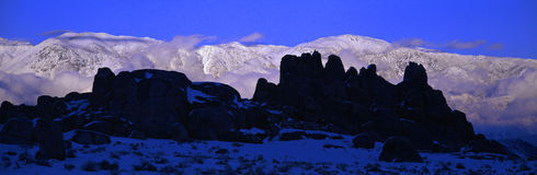 Sunset at Alabama Hills Royalty Free Stock Photography