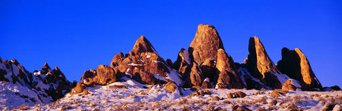 Sunset at Alabama Hills Royalty Free Stock Photo
