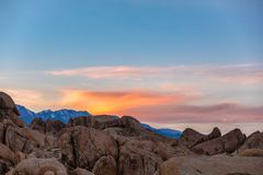Sunset at Alabama Hills Stock Photography
