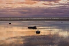 Sunset on the Alaska Coast Stock Photography