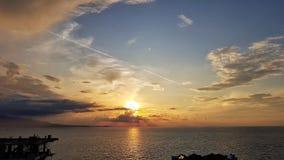 Sunset Albania royalty free stock photos