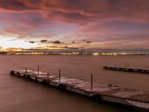 Sunset in Albufera, Valencia, long exposure Stock Photography