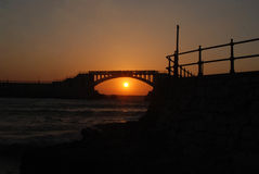 Sunset in alexandria Stock Photography