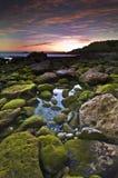 Sunset in Algarve, Portugal Stock Photo