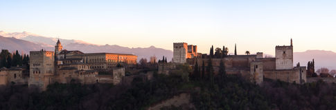 Sunset at Alhambra Stock Photos