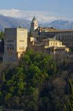 Sunset in Alhambra Stock Photography