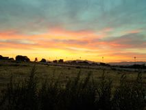 Sunset- Alhaurin de la Torre- Andalusia Stock Photos