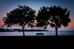 Sunset Alone Royalty Free Stock Image