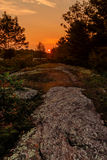 Sunset along the Canadian Shield Stock Photography