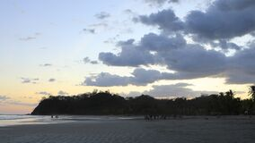 Sunset along the Costa Rica coast 4K. A Sunset along the Costa Rica coast 4K stock footage