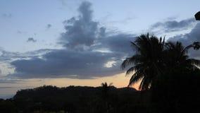 Sunset along the Costa Rica hills 4K. A Sunset along the Costa Rica hills 4K stock video