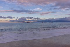 Sunset Along Kaanapali Beach. A beautiful sunset along Kaanapali beach on the island of Maui stock photos
