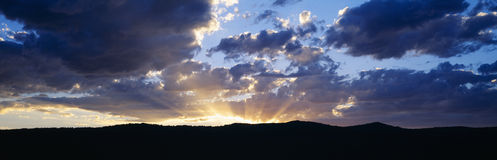 Sunset along Route 95, Idaho Royalty Free Stock Images