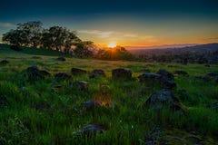 Sunset along the Vietnam Veterans Memorial trail. Santa Rosa, California Stock Photos