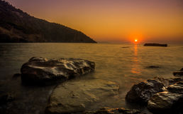 Sunset at Alonissos Island, Greece, late summer. Stock Image