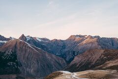Sunset in the Alps Stock Photography