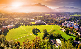 Sunset in the Alps Royalty Free Stock Photography