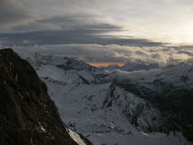Sunset in Alps Stock Images