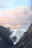 Sunset in the Alps: the Upper Grindelwald Glacier Stock Photos