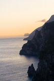 Sunset on Amalfi coast Stock Image