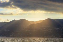 Sunset on the Amalfi Coast.Italy (Campania, Costiera Amalfitana). Stock Image