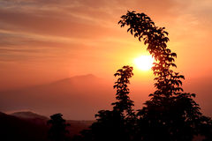 Sunset Amalfi Coast Italy. Gorgeous Sunset in the Amalfi Coast Stock Images