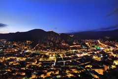 Sunset at Amasya city Turkey royalty free stock photo