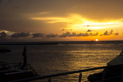 Sunset. An amazing sunset in Cozumel Royalty Free Stock Images
