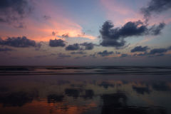 After sunset. An amazing view after sunset filled with a combination of sky and rain clouds royalty free stock image