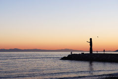 Sunset at ambleside park. West Vancouver Stock Image
