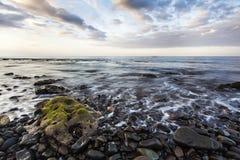 Sunset at Amed beach, Bali. Stock Photos