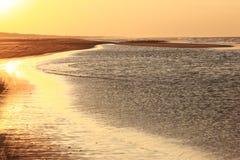 Sunset at Ameland beach, the Netherlands Stock Photography