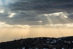 Sunset in amman. Dramatic sunset and clouds in amman Royalty Free Stock Photos