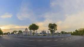 Sunset with Ananta Samakhom Throne Hall Stock Photos