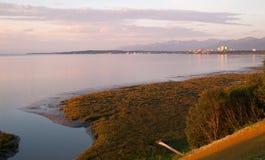 Sunset Anchorage Alaska North America USA Stock Photos