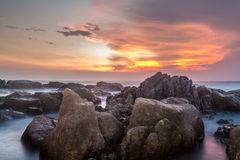 Sunset on Ancient Rocks royalty free stock photography