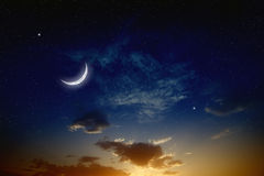 Free Sunset And Moon Stock Photos - 40354953