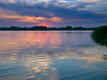 Sunset And River Stock Images