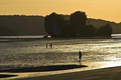 Sunset at the Andaman Sea Stock Photo