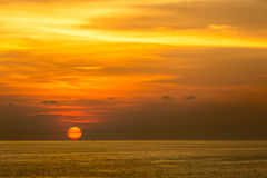 Sunset at Andaman sea Stock Images