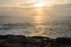 Sunset on the Andaman Sea, Cape Promthep. Phuket, Thailand Royalty Free Stock Photos
