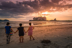 Sunset on Andaman Sea Islands Royalty Free Stock Photo
