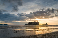 Sunset on Andaman Sea Islands Royalty Free Stock Images