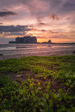 Sunset on Andaman Sea Islands Royalty Free Stock Image