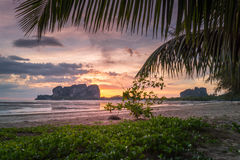Sunset on Andaman Sea Islands Stock Image