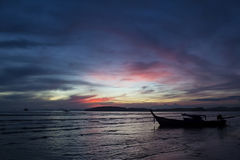 Sunset in Andaman sea, Krabi, Thailand Royalty Free Stock Image