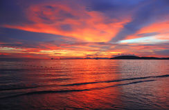 Sunset on the Andaman Sea, Thailand Stock Image
