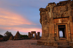 Sunset at Angkor Royalty Free Stock Photo