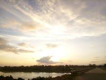 Beautiful sunset near mohardaga royalty free stock image