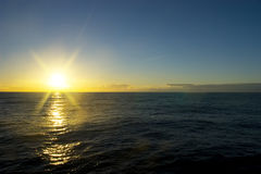 Sunset in antarctic Stock Photography